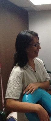 Luisa siempre sonriendo